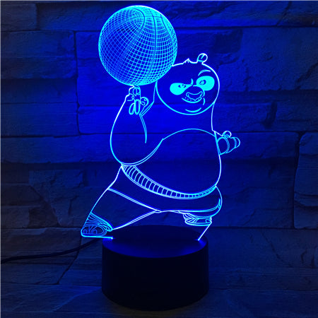 Panda 1 - 3D Optical Illusion LED Lamp Hologram