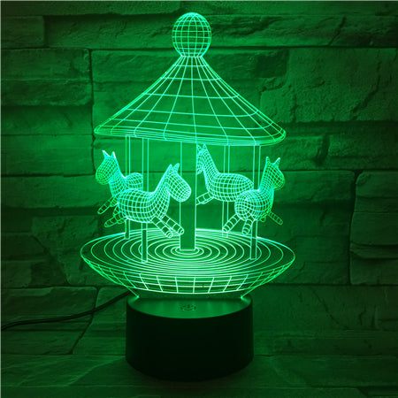 Corrousel - 3D Optical Illusion LED Lamp Hologram
