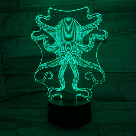 Octopus - 3D Optical Illusion LED Lamp Hologram