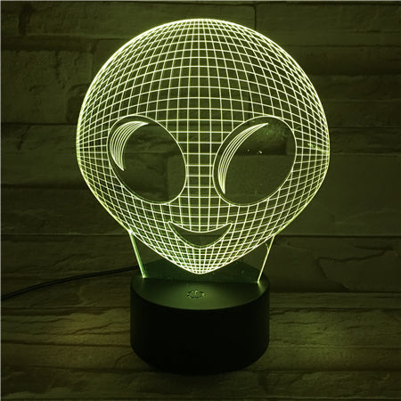 Alien - 3D Optical Illusion LED Lamp Hologram