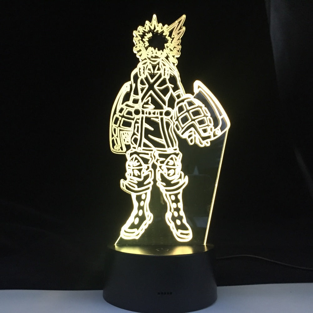 Katsuki Bakugo 3D Figure Kids Room Nightlight Led Night Light Desk LampTouch Sensor Room Lighting Anime My Hero Academia Gift