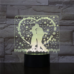 Wedding Decorations 3D LED Night Lamp Romantic Bedroom Table Lamp Valentines Gifts for Lovers Couples Dropship 3D-1534