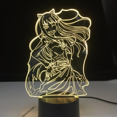 3D-4646 Anime Inuyasha Kikyo Figure Girl Led Night Light Decor Nightlight Cool Birthday Gift for Child Kids Bedroom Night Lamp