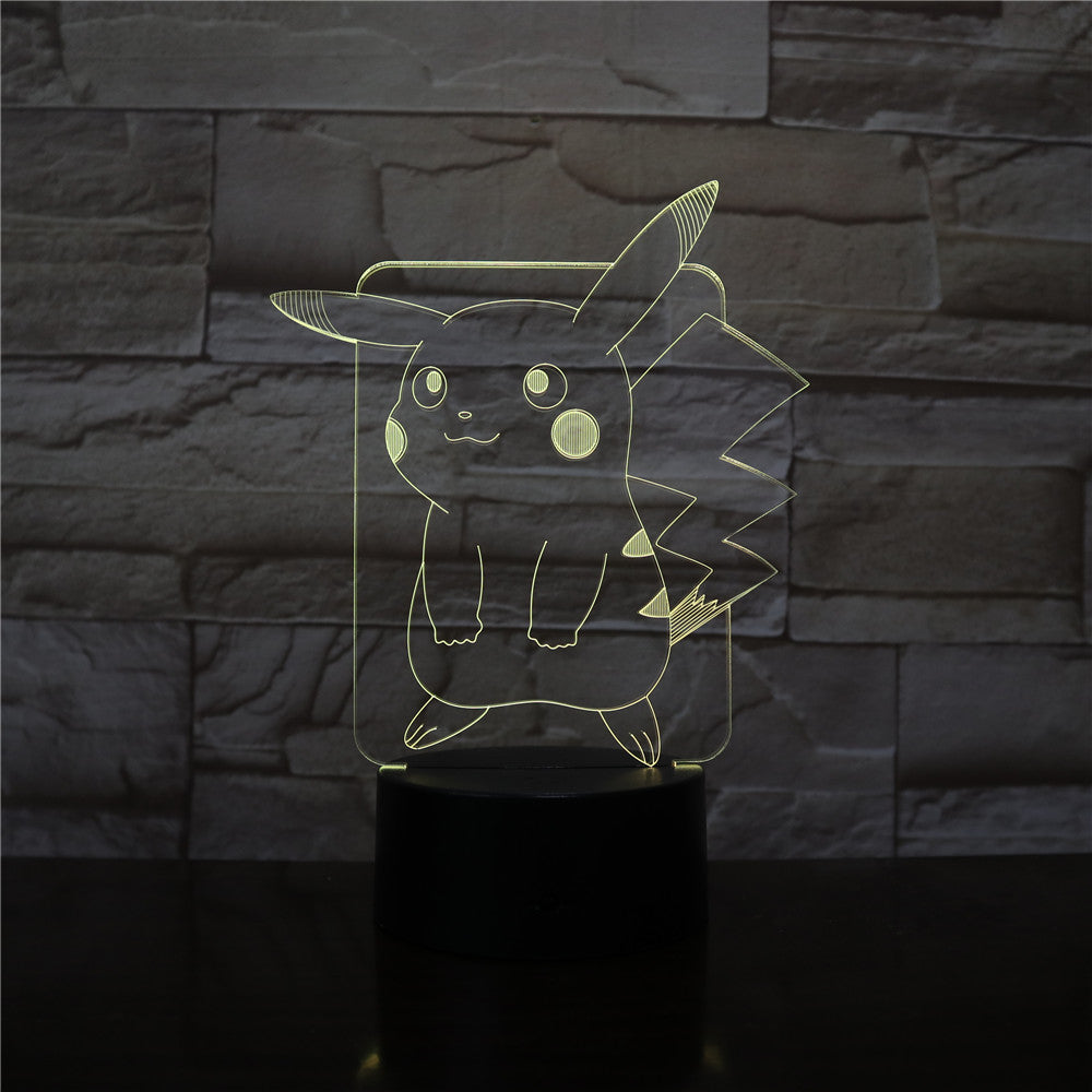 New Pikachu Figure Pokemon Go Kids Night Light LED Bedside Atmosphere Colorful Night Light Child Holiday Gift 3D Lamp Dropship