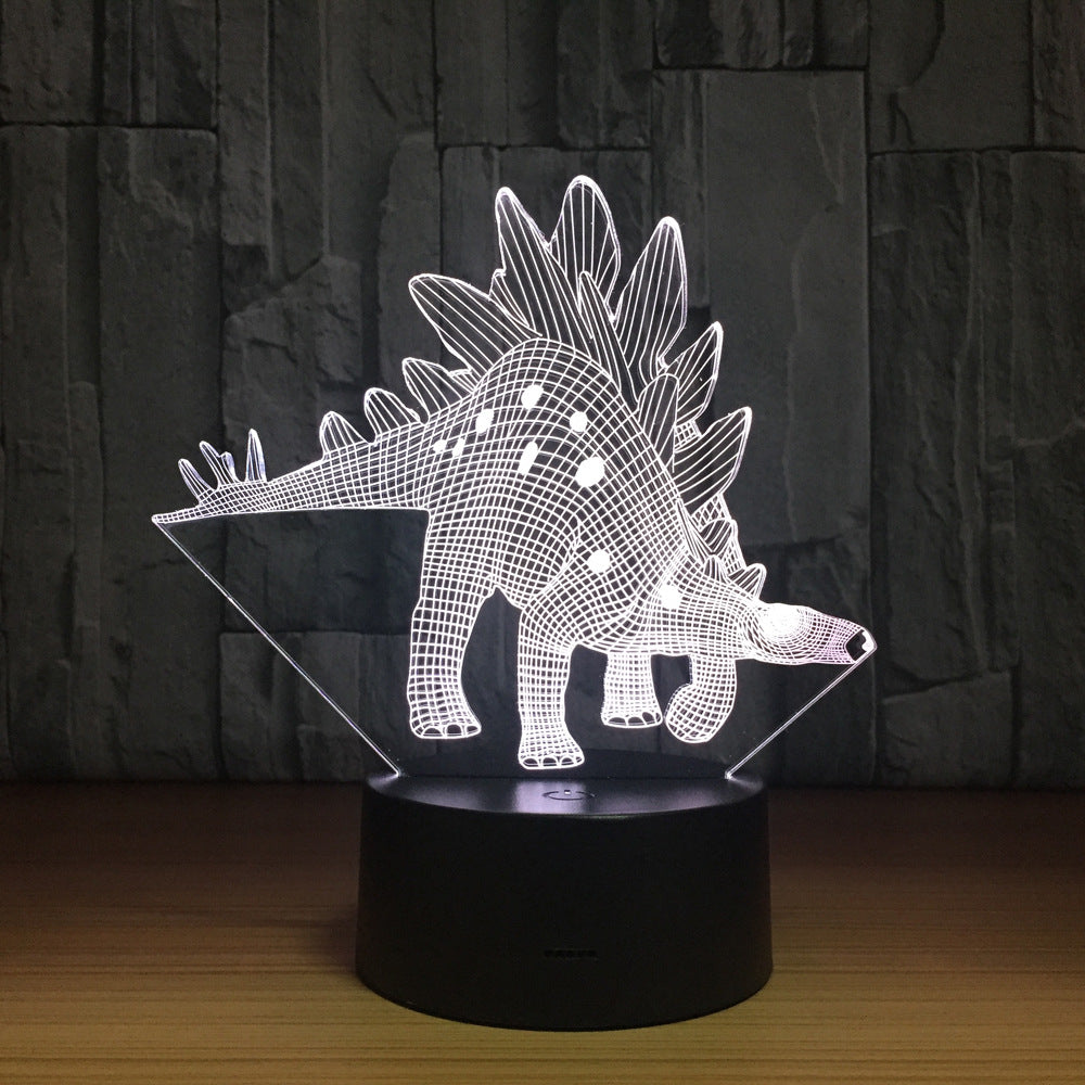 Stegosaurus Dinosaur 3D LED Lamp Touch Switch Desk Light Night Light 7 Colorful USB LED Table Acrylic Lamp Home Decor Kids Gifts
