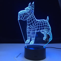 Basset Hound Dog Desk Lamp 7 Colors Bedside 3D Illusion Change Room Decorative Lamp Child Kid Baby Kit Night Light LED Dog Gift