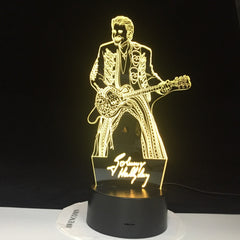Johnny Hallyday Guitar Home Decoration Bright Base Remote Touch Color Changing Bedroom Nightlight Holiday Gift Dropshipping