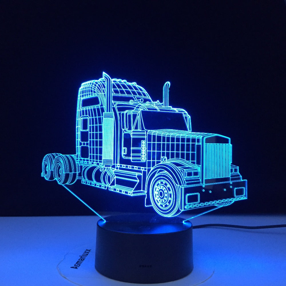 3D-3170 Super Truck Theme 3D Lamp LED night light 7 Color Change Touch Mood Lamp Home Decor Best Drop Shipping Products