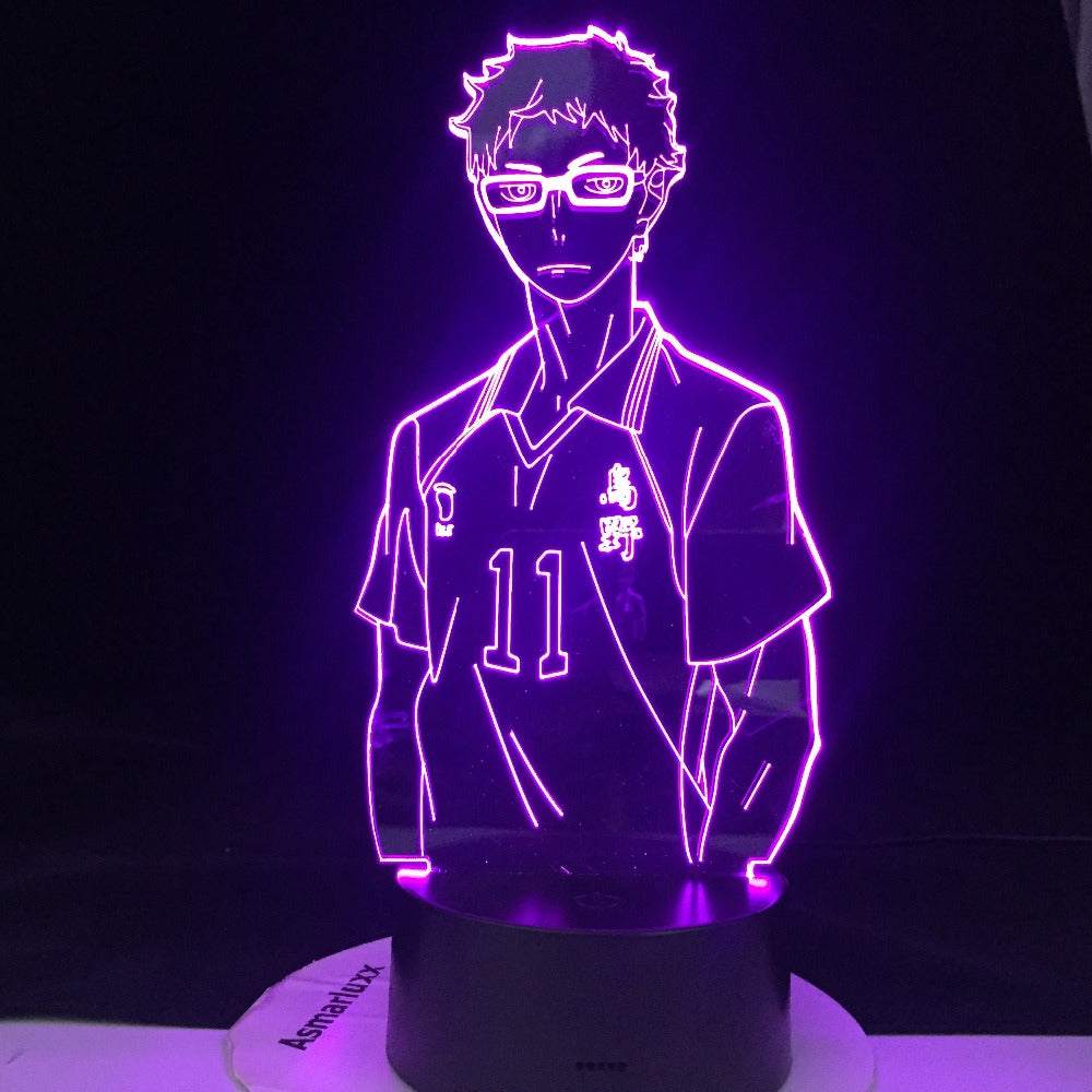 KEI TSUKISHIMA 3d LED ANIME LAMP HAIKYUU Manga Gift Anime 3d Lamp Night Light Lamp Otaku Gift Well Packed And Fast Dropship