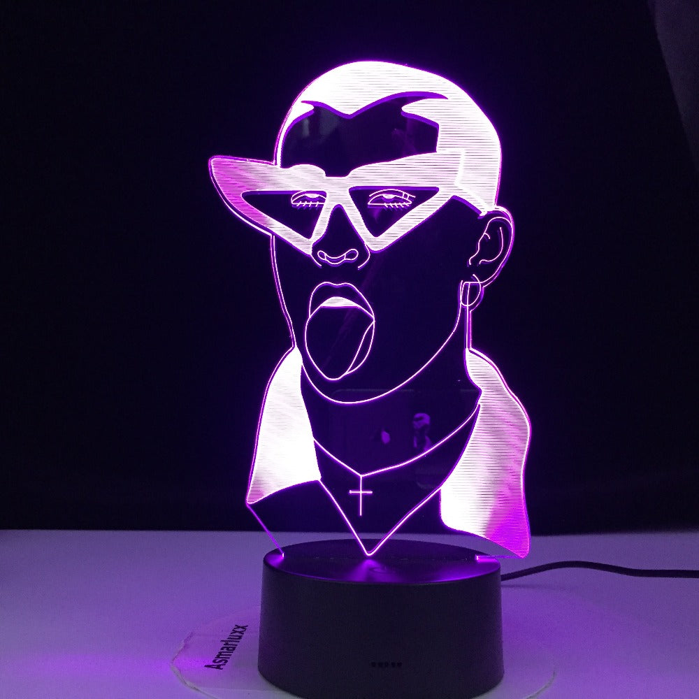 Table Light American Singer Rapper 3D Lamp Colors Changing Night Light Children Present Rock Lamparas Remote Touch Lava Lamp