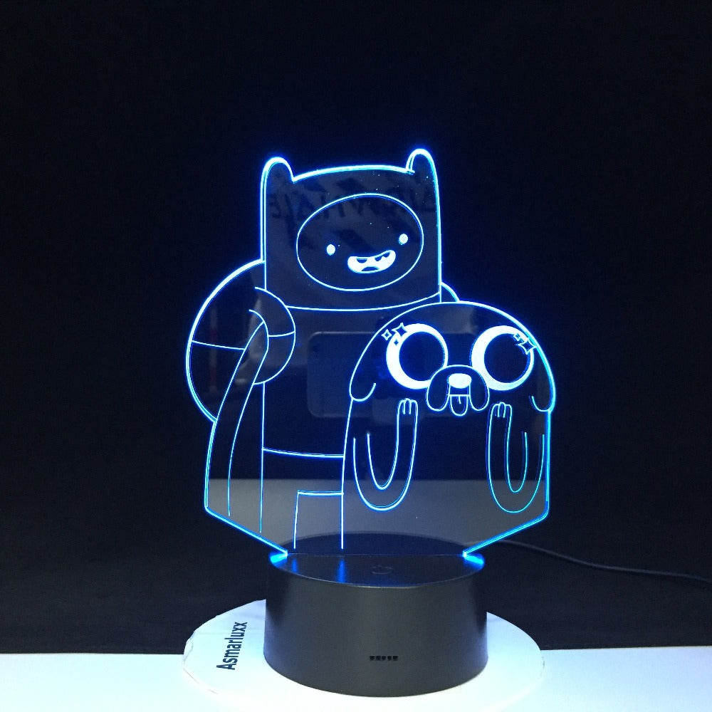 Cute Cartoon Table Desk Lamp Children Night 3D LED Night Light Lampara Change Bedroom Xmas Gift Decoration Kids Dropshipping