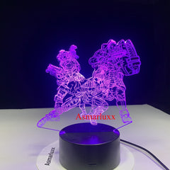 Legend 3D LED Lamp Changeable Mood Lamp LED 7 Colors USB Decor Illusion Table Lamp for Home Decorative As Game Toy Gift