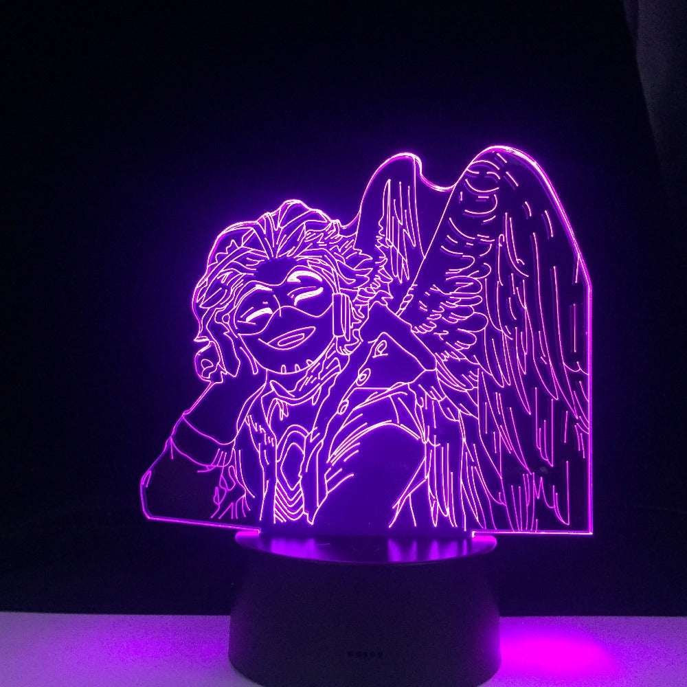 HAWKS KEIGO TAKAMI LED ANIME 3d LAMP MY HERO ACADEMIA Room Decor Nightlight Remote Control Colors Gift Table 3d Lamp Dropship