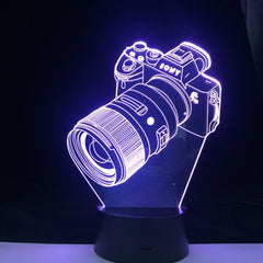 SLR Camera Model 3D Table Lamp Children Bedroom Decoration Festival Home Party Atmosphere Led Light Smart Colors Control Gift