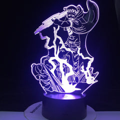 Trafalgar D. Water Law Figure Led ONE PIECE 3d Night Light Lamp Japanese Anime Nightlight for Child Bedroom Decor Lamp Bedside