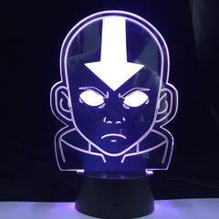 The Last Airbender 3D LED Night Light Coloful with Remote Touch Sensor for Room Decoration Cute Gift For Kids Gift Dropship