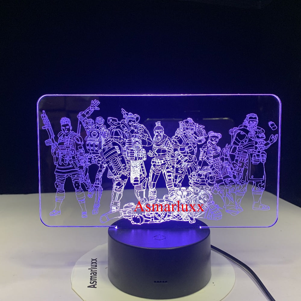 Game Legends Team Night Lamp Nightlight Room Decoration Light Friends Holiday Gift 7 Colors Table LED Night Light Drop Ship
