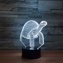 Tortoise 3d Lamp Led Animals Night Light 7 Colors Changing Nightlight Children's Bedroom Lighting Home Decor Drop Shipping