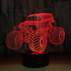 3D Colors Lamp Car Truck Shape Auto 3D Hologram Home Illumination Bedroom Decor Desk Table Lamp Best New Year Gift Cool Light