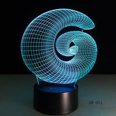 Abstract 3D Lamp LED NightLight light Acrylic lamp Atmosphere Desk Table Decoration Lamp Novelty Indoor Decor Lighting AW-051