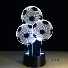 Football Balloon Night Light Sporting 3D LED USB Lamp RC Touch Remote Controller Colorful Gradient Visual Boy Gift AW-081