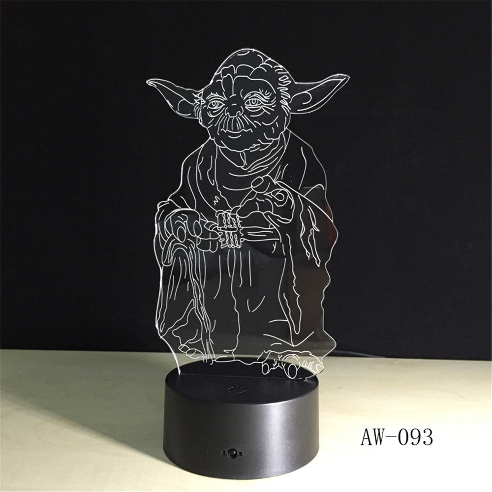 Star War Master YODA 3D LED LAMP Night Light Multicolor RGB Bulb Christmas Decorative Gift Cartoon Toys Luminaria Lava AW-093