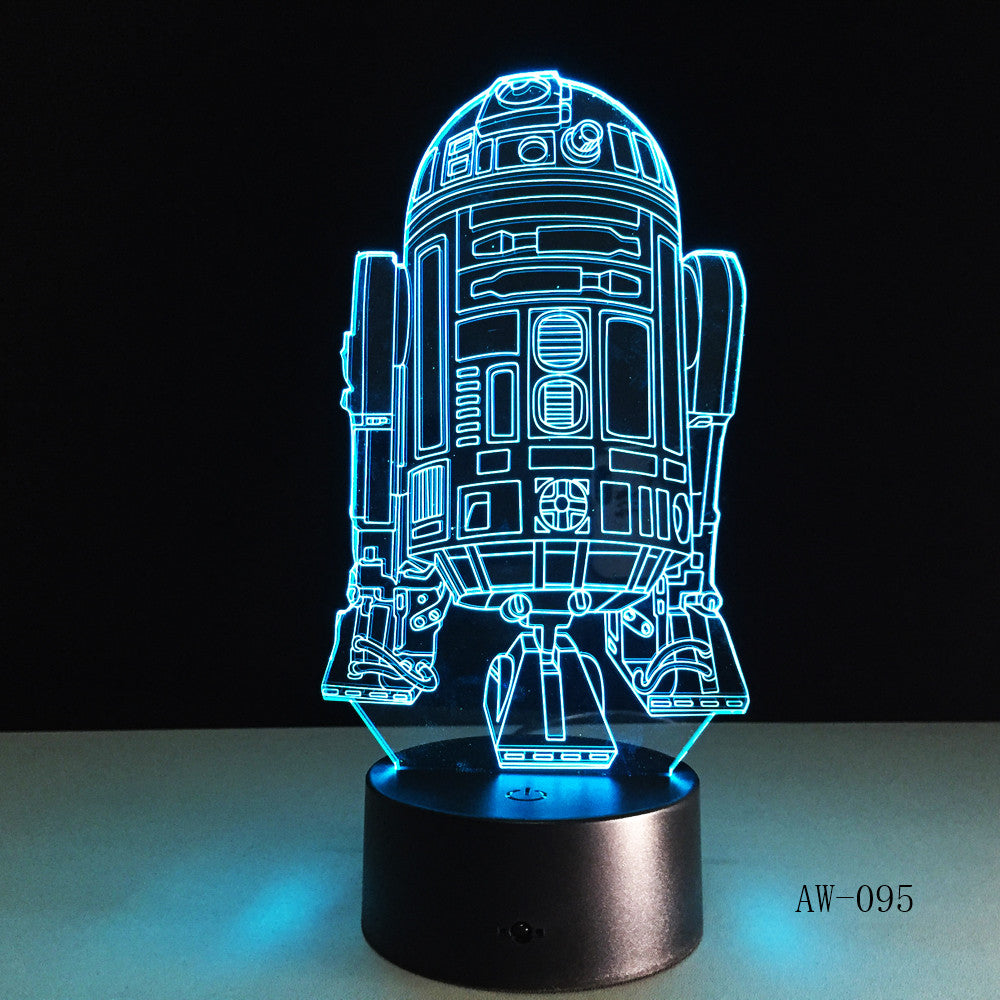 2019 3D Lamp Death Star War R2D2 BB-8 Darth Vader Stormtrooper Knight LED Table LIGHT Multicolor Cartoon Toy Luminaria AW-095