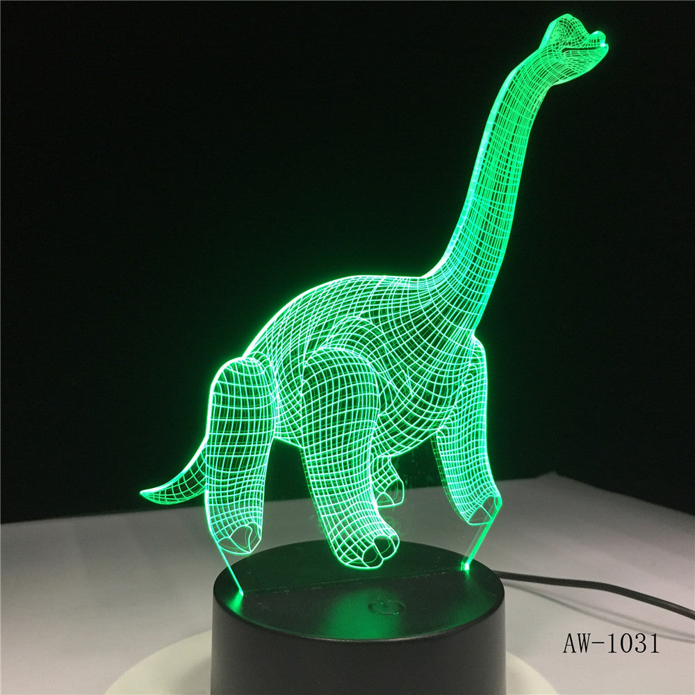 dinosau Shape USB 3D LED Lamp Night Light Acrylic Table lamp Touch 7 Colors Changing Sleeping Lamparas Light for Gift AW-1031