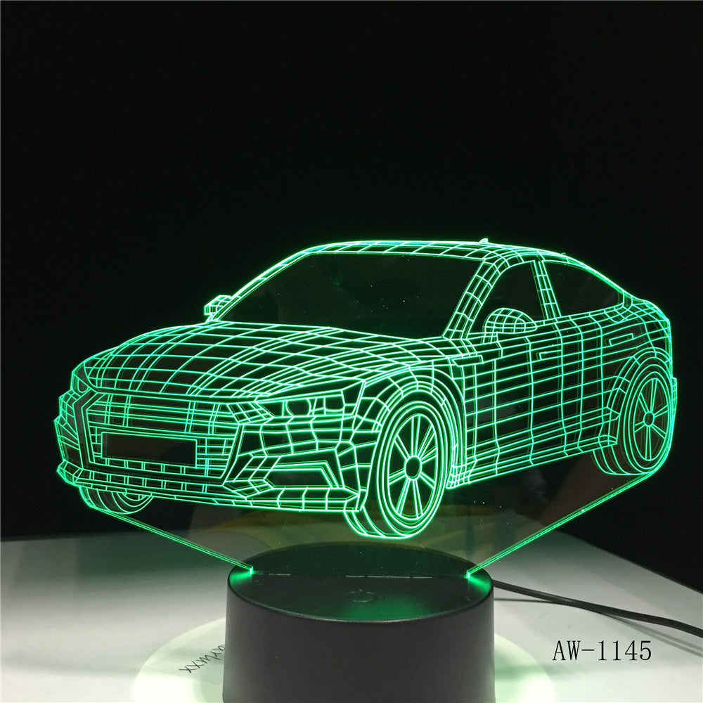 Lightning McQueen Route 66 Your Racing Car 3D 7 Color Lamp Visual Led Night Lights For Kids Touch Usb Table Lampara AW-1345