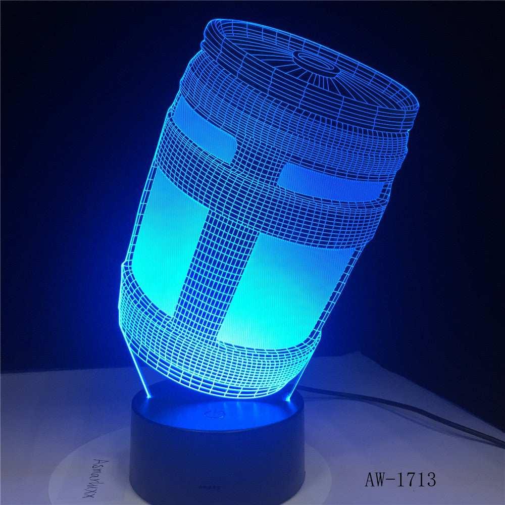 Fortnited Chug Jug 3D LED Lamp Batteries Powered Night light Customize 7 Colors Decor Changes Light Show Kids Gift AW-1713