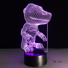 dinosaur model 3D LED Table Lamp 7 Colors Visual Illusion LED Lights Friends Party Gift Drop AW-180