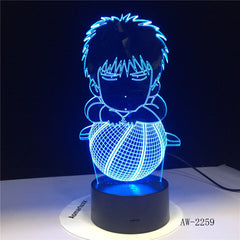 Basketball Boy 3D Table Lamp 7 Colors Gradient Led Nightlight USB Bedside Sleep Lighting Decor For Kids Toys Gifts AW-2259