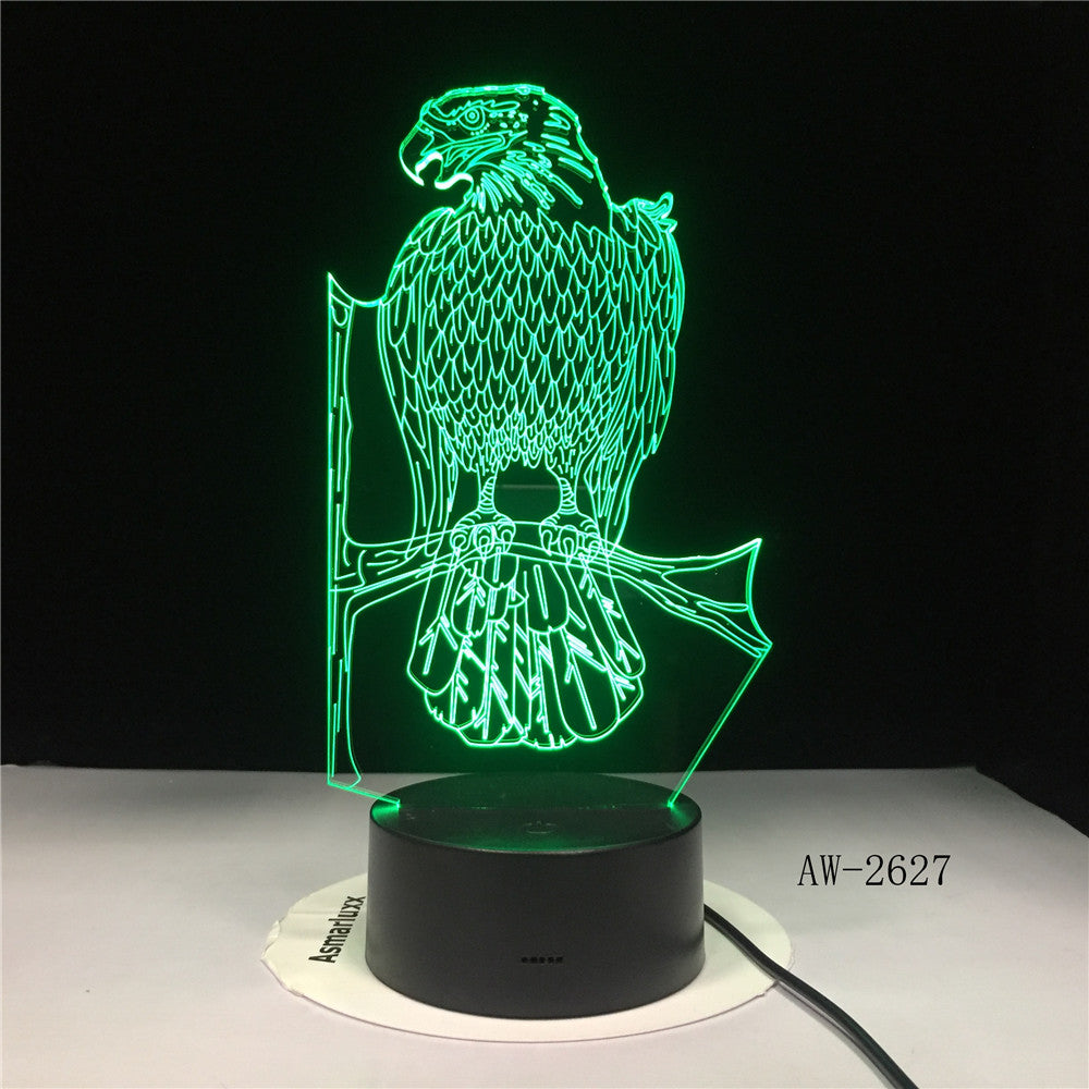 3D LED Lamp Bird branches Decoration Atmosphere Night light Desk Table 7 Color Change Lampara RGB Boy Kid Toys Birthday Gift2627