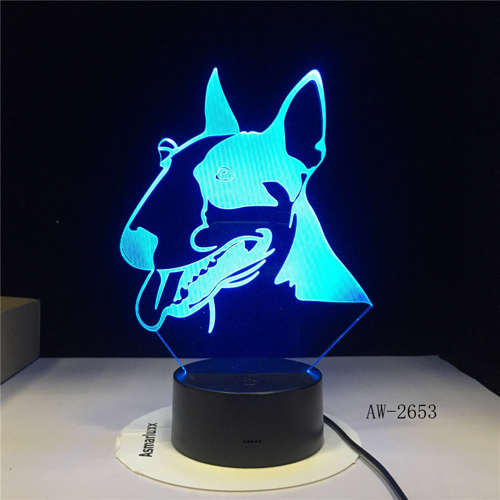 Cartoon Horse 3D Lamp 7 Colors Led Night Lamp For Kids Touch Table Lampara Lampe Baby Sleeping Nightlight Office Light AW-2653