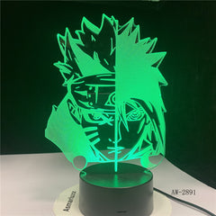 7 Colors Changing Led 3D Uchiha Sasuke Modelling Table Lamp Anime Home Decor Light Fixture Kids Sleep Naruto Night Light AW-2891