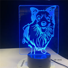 New Tiger Animal Desgin Cartoon 3D Night Lamp 7 Color Change USB Desk Lamp Office Light Party Decor Light AW-3036