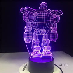 7 Colors USB Energy-saving Touch 3D LED Night lights Robot Living Bedroom Desk Table Battery Creative Gift LED Lamp AW-618
