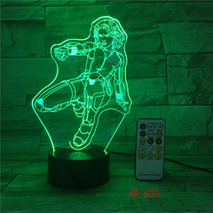 Wonder Woman DC 3D LED Night light Decoration lamp Bedroom Sleep Light 7 Color Change Boy Kid Girl RC Christmas Gift Toy AW-633