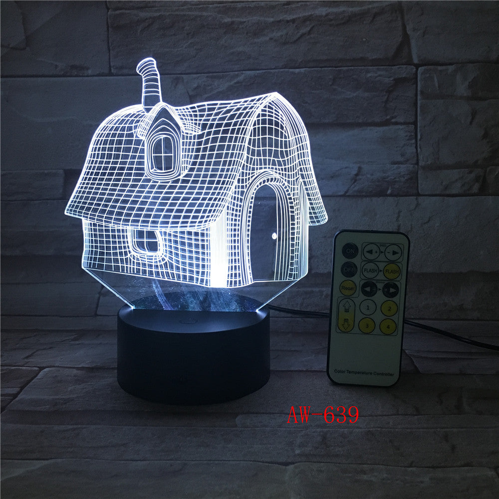Cutely Mushroom Shape LED 3D Decorations Lights 7 Colors USB Table Lamp as Bedroom Lights Drop shipping Children Gift AW-639