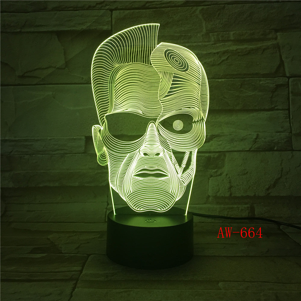 One Eyed Person 7 Colors Changeable 3D Night Light Visual LED Touch USB Table Lamp Home Atmosphere Lamp Kids Toy Gift AW-664