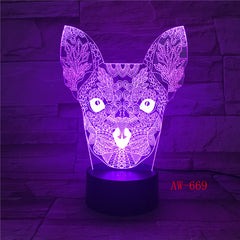 3D Cat LED Night Light USB Charging Animal Shape Indoor Decoration Lamp Kids Night Lamps For Room Indoor Light Dropship AW-669