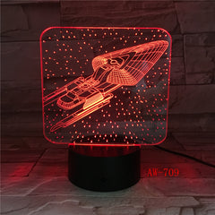7 Colorful Mood LED Lamp 3D Led Spaceship Earth Space Desk Lighting Bedroom Bedside Decor Night Light Children Gifts AW-709