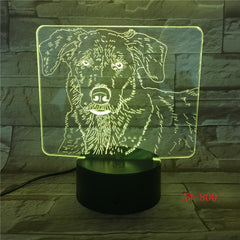 3D LED Cute Labrador Dog Night Light Baby Animal Lights Table Lamps For Home Decor Christmas Gifts For Party Decor Light AW-800