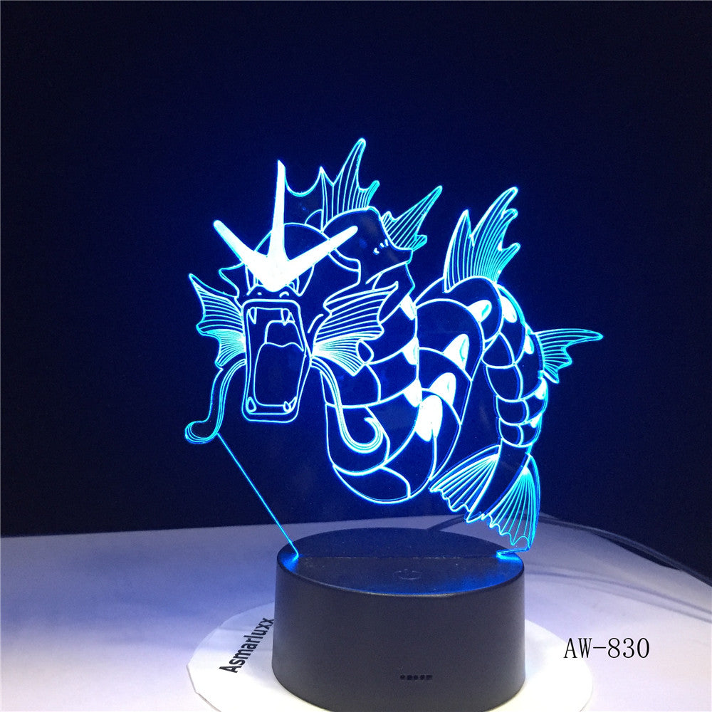 Novelty Dinosaur Dragon Horn Lamp 3D USB LED Colors Night Light Animal Table Lighting Holiday Decor Kid Toy Gift AW-830