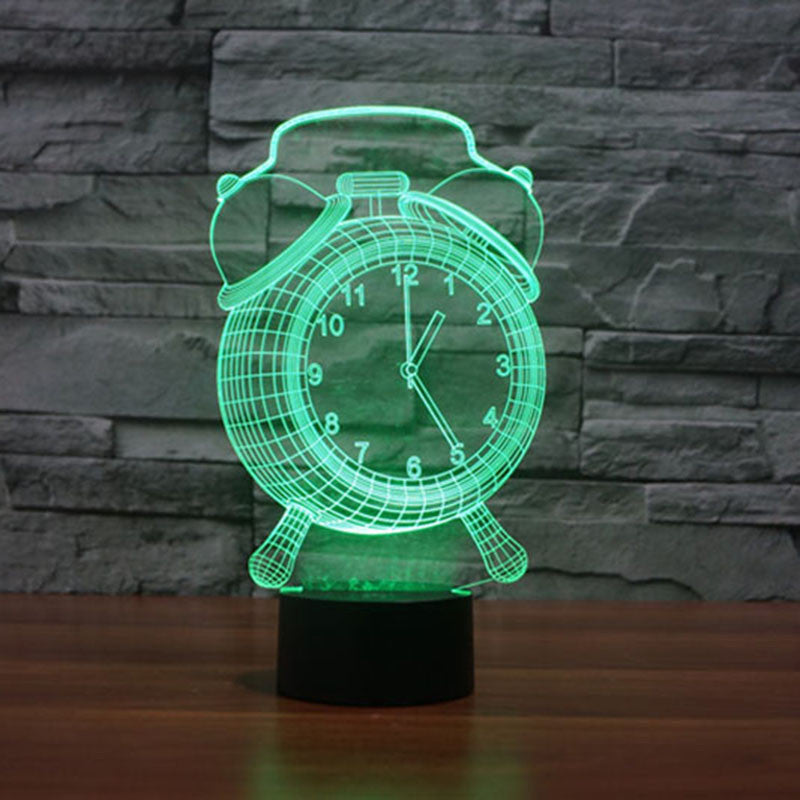 Alarm Clock - 3D Optical Illusion LED Lamp Hologram - The 3D Lamp™ - Copyright
