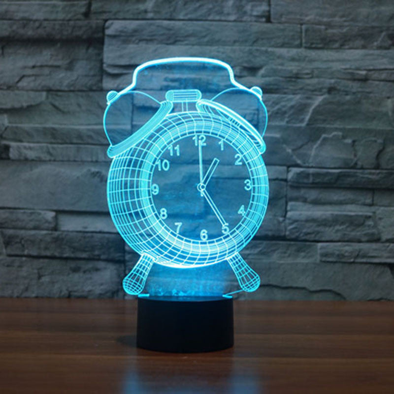 Alarm Clock 3d Optical Illusion Led Lamp Hologram The