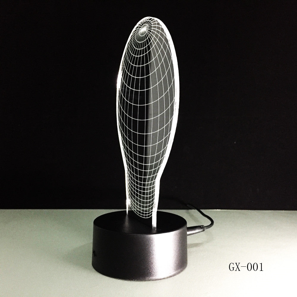 Abstract 3d led lamp - 3D Optical Illusion LED Lamp Hologram