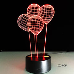 Balloon 3D Led USB Night light Table Lamp Colors Gradient Creative Luminaria Optical Illusion Lamp Home Decorative Gifts GX-006