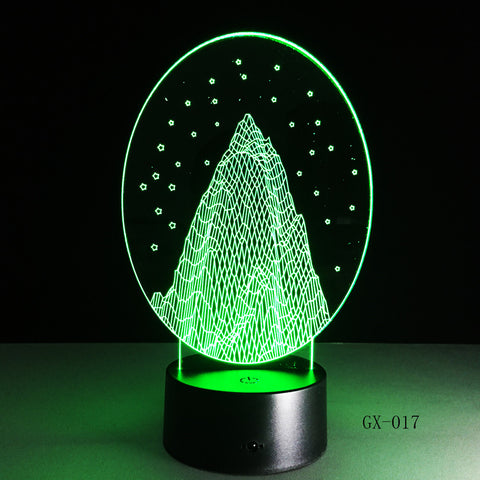 Wholesale Snow Mountain 3D led Nightlight Usb Lamp Customize Touch Acrylic Lamp Kids Room Led Lamp Drop Shipping Service GX-017