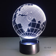 3D Visual Europe Map Globe Nightlight 7 Color Gradient Desk Table Lamp Bedside Lamp Child Kids Birthday Xmas Gifts GX-019